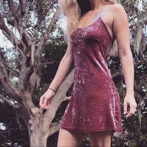 Topshop Mini Dress Soft Velvet Feel